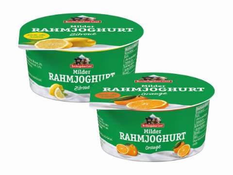 Berchtesgadener Land: Milder Rahmjoghurt Sommersorten Orange und Zitrone