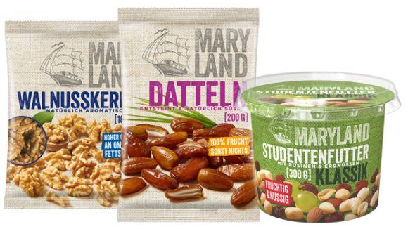 MARYLAND: Nüsse, Trockenfrüchte & Zutaten