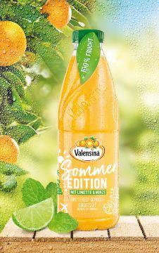 Valensina Erntefrisch Gepresst: Sommer-Edition mit Limette und Minze