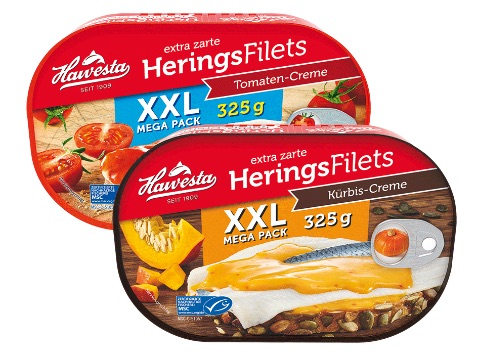 HAWESTA: Heringsfilets Kürbis-Creme XXL