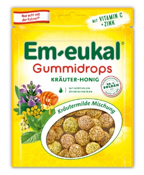 Em-eukal Gummidrops: Em-eukal Gummidrops Kräuter-Honig Mischung
