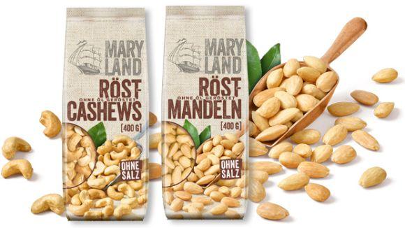 MARYLAND: Röst-Cashews & Röst-Mandeln 400g
