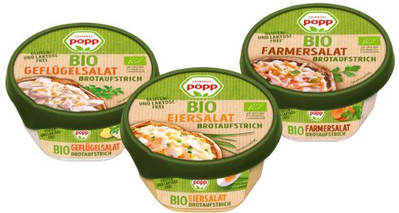 Popp: Brotaufstriche jetzt auch in Bio-Qualität