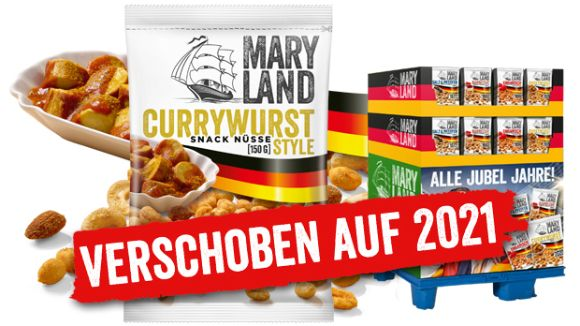 MARYLAND: MARYLAND Nuss Snacks zur Fußball EM 2020 – 150 g