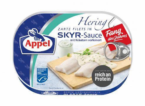 Appel: Fang des Jahres 2020: MSC Heringsfilets in Skyr-Sauce verfeinert mit Kräutern