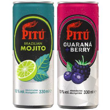 PITÚ: PITÚ Brazilian Mojito & PITÚ Guaraná + Berry