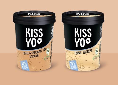 KISSYO: 30 Prozent weniger Zucker, trotzdem voller Geschmack: die neuen Eiscreme-Sorten Cookie und Coffee & Chocolate Chip