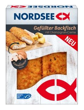 NORDSEE: Gefüllter Backfisch mit Champignon-Creme