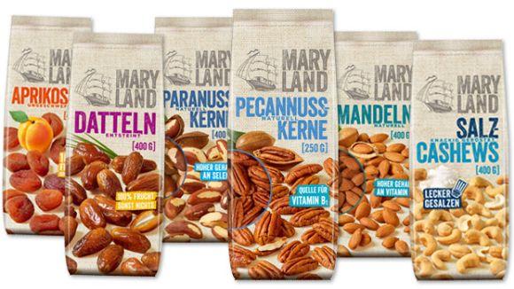 MARYLAND: Sechs neue Großbeutel für Nüsse und Trockenfrüchte