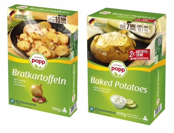 Kartoffel-Convenience von Popp ab sofort klimaneutral