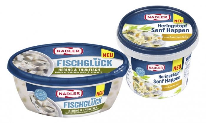 NADLER FISCHGLÜCK Hering & Thunfisch Happen, NADLER Heringstopf Senf Happen