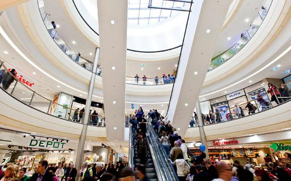Shoppingcenter: Flächenwachstum deutlich geringer