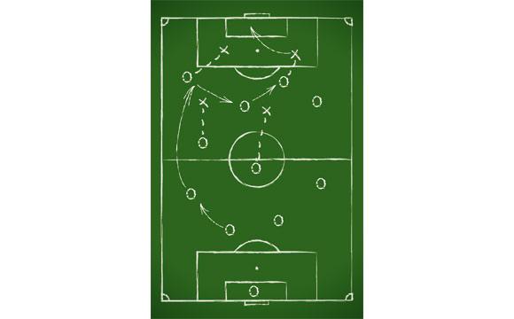 Fußball:Richtig aufstellen