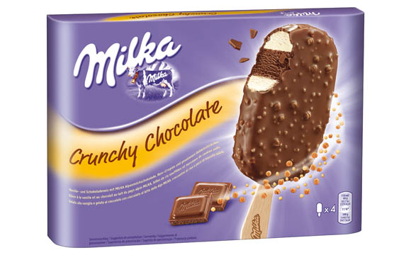 Milka Stieleis Crunchy Chocolate / R & R Ice Cream Deutschland