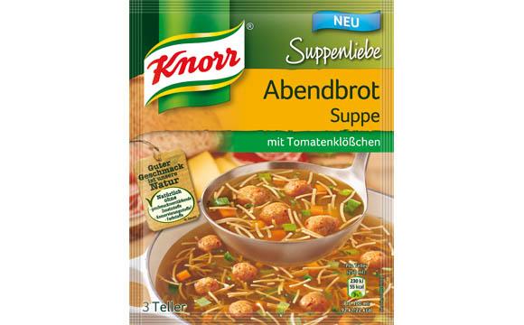 Knorr Suppenliebe Abendbrot Suppe mit Tomatenklößchen / Unilever Deutschland