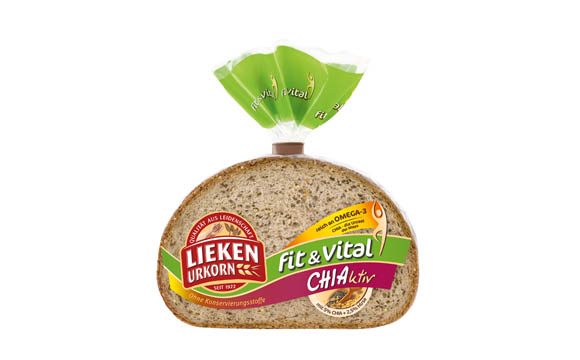 Brot und Backwaren - Gold: Lieken Urkorn Fit & Vital Chiaktiv / Lieken Brot- und Backwaren