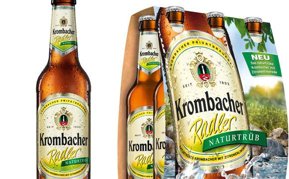 Bier - Gold:Radler Naturtrüb / Krombacher Brauerei