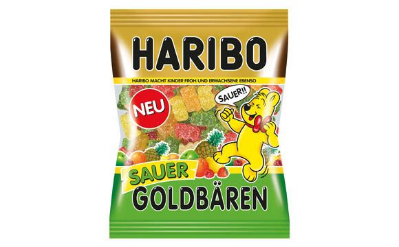 Zuckerwaren - Gold: Sauer Goldbären / Haribo