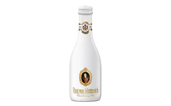 Wein, Sekt, Champagner - Gold: Fürst von Metternich Chardonnay Sekt Trocken 0,2 l / Henkell & Co. Sektkellerei