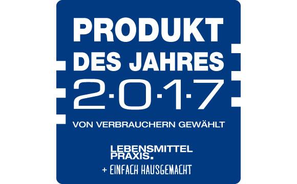 Produkt des Jahres 2017: Gütesiegel Nr.1
