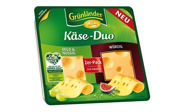 Molkereiprodukte Gelbe Linie - Silber: Grünländer Käse-Duo / Hochland Deutschland
