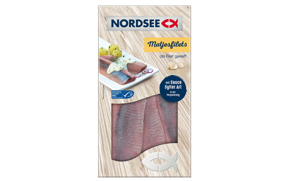 Nordsee Matjesfilet mit Sauce Sylter Art / Homann Feinkost