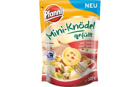 Nährmittel - Silber: Pfanni Mini-Knödel gefüllt mit Käse und Speck / Unilever Deutschland