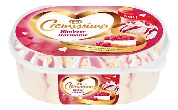 Eiscreme - Silber:Cremissimo Himbeer Harmonie / Unilever Deutschland