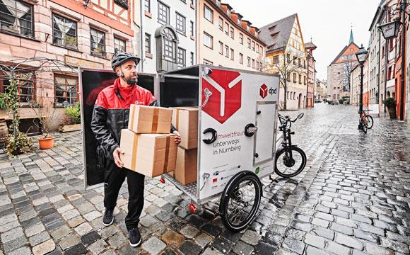 Auslieferung per Lastenrad in der City