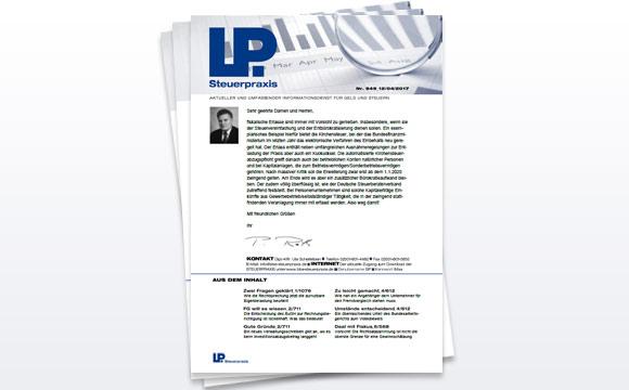 LP Steuerpraxis: Informationen und Service zum Thema Geld und Steuern