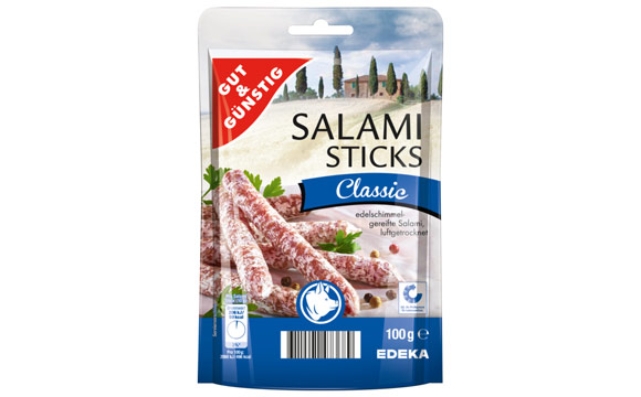 Rückruf von Salami Sticks