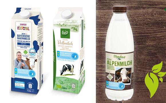 Milch mit Tierschutzlabel in allen Märkten