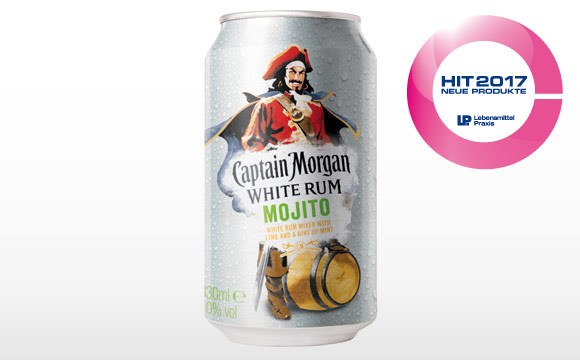 Anzeige: Der Captain im Ready-to-Drink-Segment: Captain Morgan White Rum Mojito