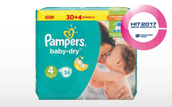 Verbesserte Pampers Baby-Dry Windel