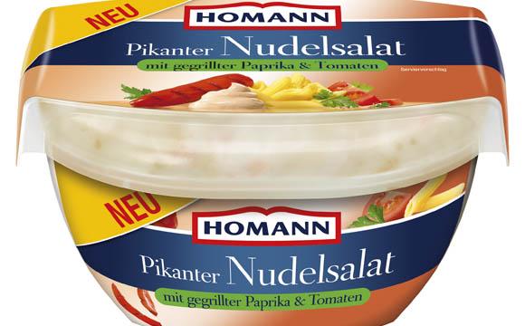 Feinkost und Delikatessen - Bronze: Homann Pikanter Nudelsalat mit gegrillter Paprila & Tomaten / Homann Feinkost