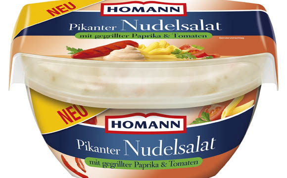 Homann Pikanter Nudelsalat mit gegrillter Paprila & Tomaten / Homann Feinkost