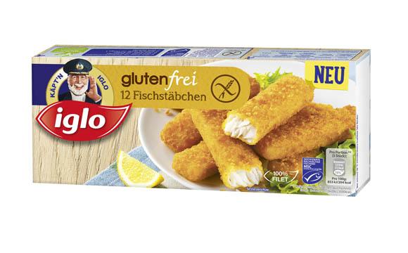 Käpt'n Iglo Fischstäbchen glutenfrei / Iglo