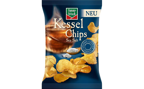 Funny-Frisch Kessel Chips Sea Salt / Intersnack Knabber-Gebäck