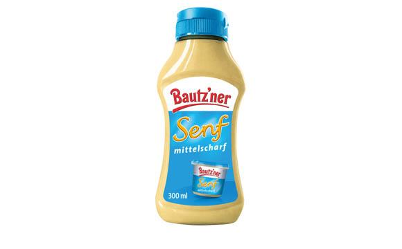 Bautz'ner Senf Mittelscharf in der Squeeze-Flasche / Develey Senf & Feinkost