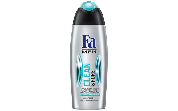 Bad- und Duschpflege - Gold: Fa Men Clean & Pure Duschgel / Henkel