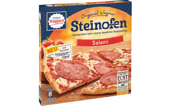 Tiefkühlkost - Gold: Original Wagner Steinofen Pizza mit leckerem Knusperrand / Nestlé Wagner