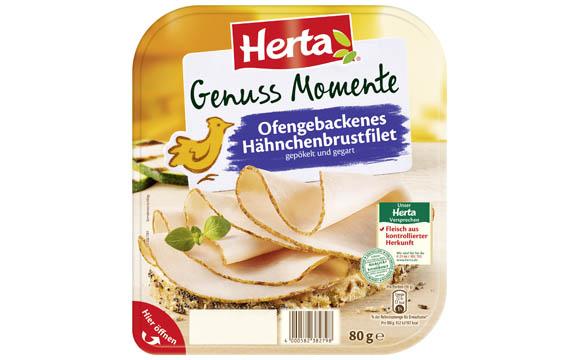 Fleisch und Wurst - Silber: Herta Genuss Momente ofengebackenes Hähnchenbrustfilet / Herta