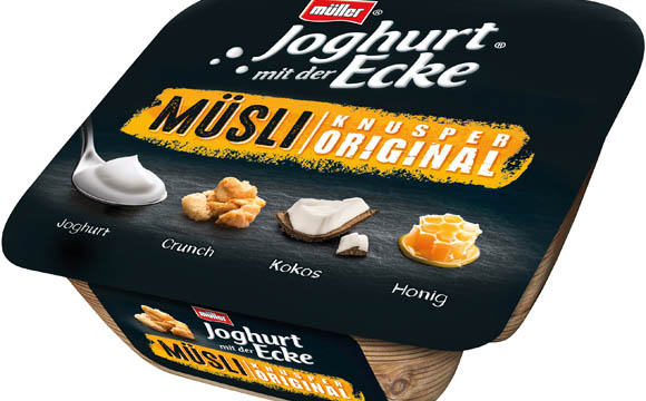 Joghurt mit der Ecke Müsli / Molkerei Alois Müller