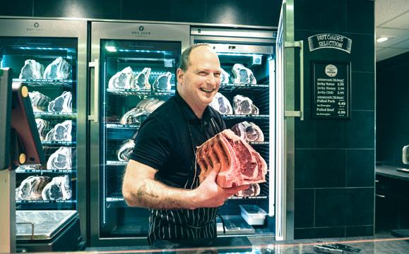 Mit Begeisterung Fleisch verkaufen