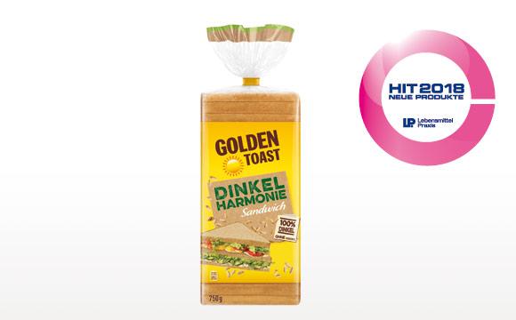 Anzeige: Golden Toast 100% Dinkel, ausgezeichneter Genuss