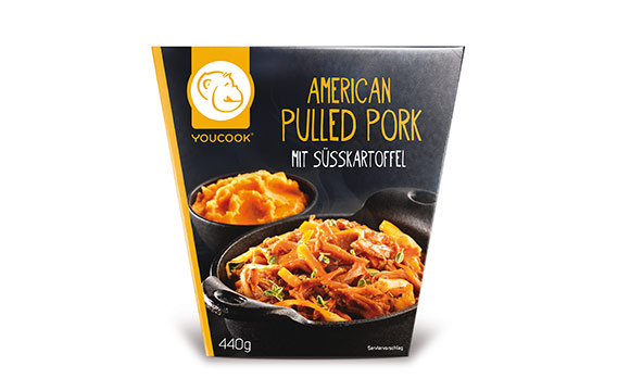 Chilled Food - Bronze: Youcook American Pulled Pork mit Süßkartoffeln / Youcook