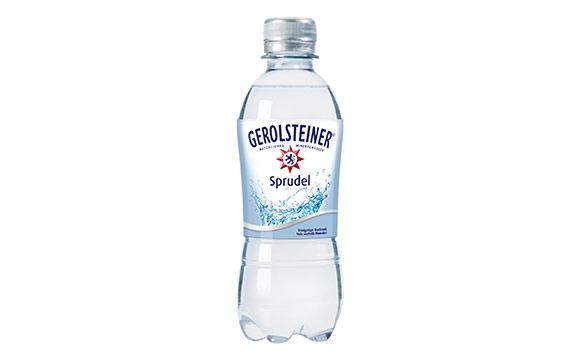 Gerolsteiner 0,33-Liter-PET Einwegflasche / Gerolsteiner Brunnen