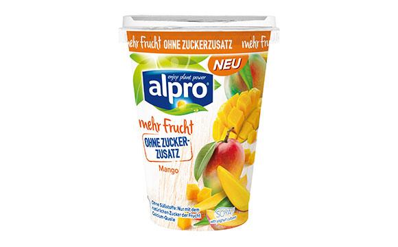 Alpro Soya-Joghurtalternative mit mehr Frucht und ohne Zuckerzusatz / Alpro