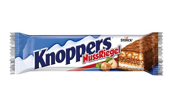 Schokoladenwaren - Gold: Knoppers Nuss Riegel / Storck Deutschland