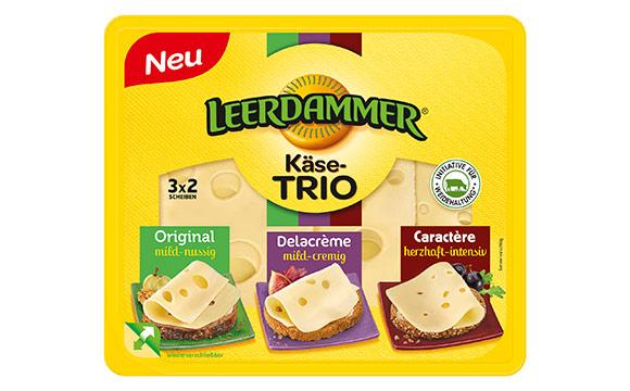 Molkereiprodukte Gelbe Linie - Gold: Leerdammer Käse-Trio / Bel Deutschland